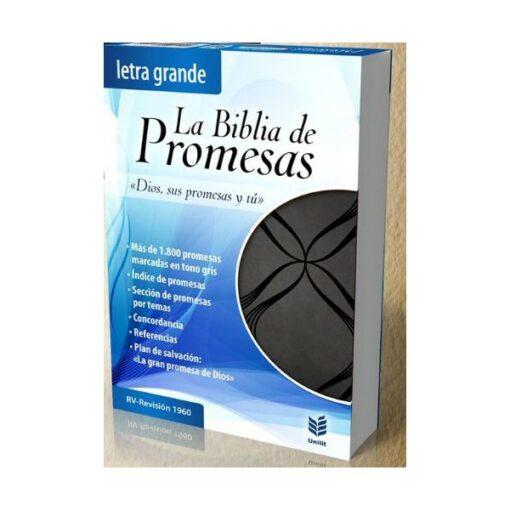 B. de promesas letra grande piel